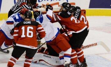 Kanados U20 ledo ritulio rinktinė įveikė Rusiją