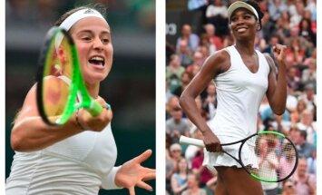 Jelena Ostapenko ir Venus Williams