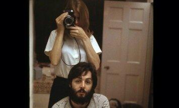 Paulas ir Linda McCartney su dukrele