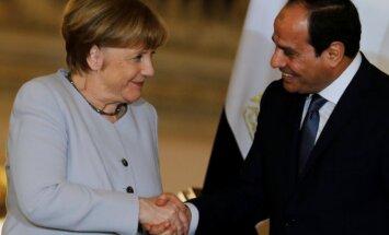 Angela Merkel ir Abdelis Fattah al-Sisi