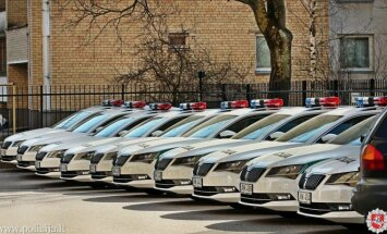Lithuanian police car park