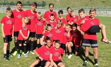 Granito futbolininkai AC Milan stovykloje