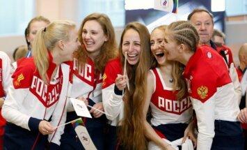 Rusijos sportininkės išvyksta į Rio de Žaneirą