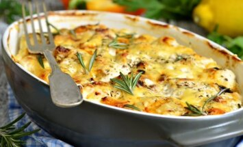 Bulvių apkepas su sūriu