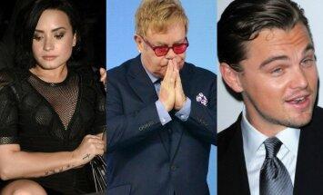 Demi Lovato, Eltonas Johnas, Leonardo DiCaprio