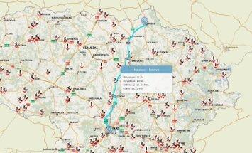 Kelionės maršruto žemėlapis