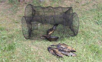 Konfiskuoti žvejybos įrankiai