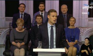 Landsbergis during the TV debate