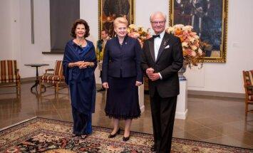 Švedijos karalių priėmimas Valdovų rūmuose