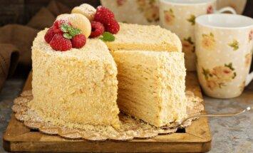 Naminis Napoleono tortas, nuo kurio namiškiai apsilaižys pirštus