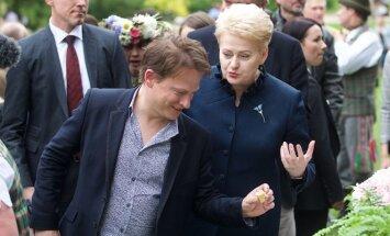 Dalia Grybauskaitė ir James'as Roganas