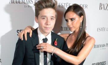 Brooklyn Beckham ir Victoria Beckham