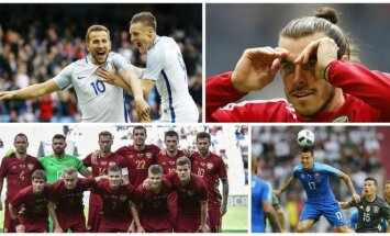 Harry Kane'as ir Jamie Vardy, Garethas Bale'as, Rusijos futbolo rinktinė, Marekas Hamšikas (AFP ir Reuters-Scanpix nuotr.)