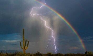 Vaivorykštė ir žaibas