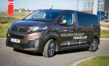 Naujasis Peugeot Traveller keliauti siūlo nuo 5 iki 9 žmonių