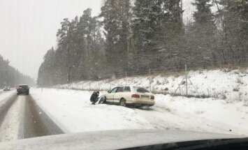 Difficult driving conditions in Lithuania