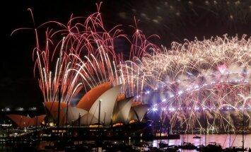 Naujametiniai fejerverkai Australijoje