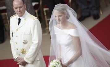 Monako kunigaikštienė Charlene ir kunigaikštis Albertas II