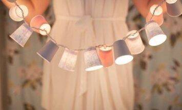 Pasidaryk pats: šventinė lempučių girlianda iš popierinių puodelių
