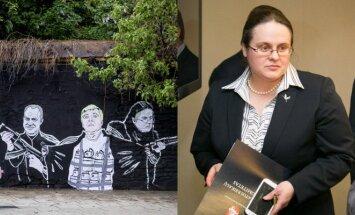 Piešinys Pylimo gatvėje ir Agnė Širinskienė