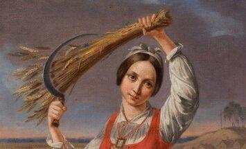 K. Ruseckas. Pjovėja. 1844. Lietuvos dailės muziejus