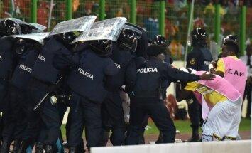 Riaušių policija saugo Ganos rinktinės futbolininkus