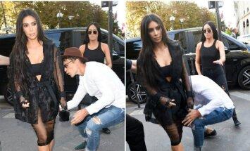 Garsenybių puldinėtojas V. Sediukas smogė darkart: bandė pabučiuoti K. Kardashian užpakalį