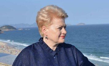 Dalia Grybauskaitė Rio de Žaneire (Prezidentės spaudos tarnybos nutor.)