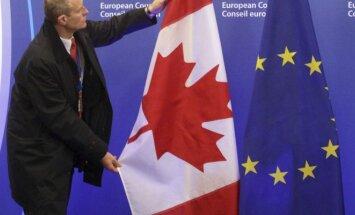 Kanados ir Europos Sąjungos vėliavos