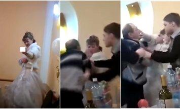 Vestuvių puota, kokios dar nesate matę: jaunoji susimušė su mylimojo tėvu