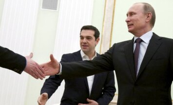 Vladimir Putin and Greek PM Alexis Tsipras