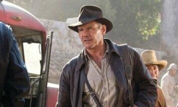 """Kadras iš filmo """"Indiana Džounsas ir krištolinės kaukolės karalystė"""" (Indiana Jones), Harrison Ford"""