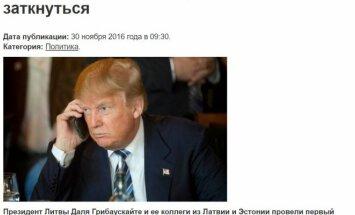 Kremliaus propagandistų fantazijos vaisius: pirmasis D. Trumpo ir D. Grybauskaitės pokalbis