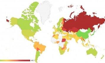 Plagijavimo tendencijų žemėlapis (Plag.lt nuotr.)