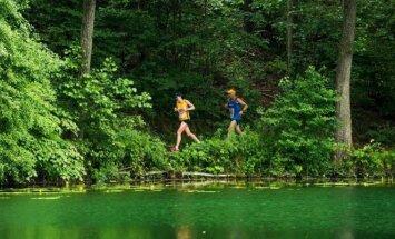 Bėgimas aplink Žaliuosius ežerus (A. Četkausko nuotr.)