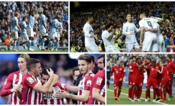 Man City, Real, Atletico ir Bayern (AFP/Reuters)