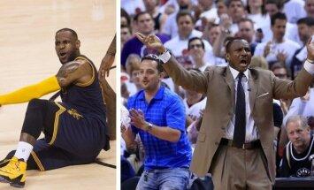 LeBronas Jamesas ir Dwane'as Casey. AFP ir AP nuotr.