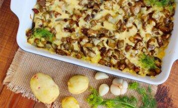 Bulvių ir baklažanų apkepas
