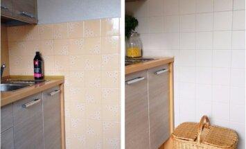 PRIEŠ ir PO: kaip atnaujinti virtuvės ir vonios plyteles?