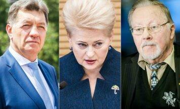 PM Algirdas Butkevičius, President Dalia Grybauskaitė, Vytautas Landsbergis