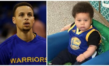 Stephenas Curry ir Landonas Bentonas