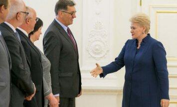 Prezidentė susitiko su Vyriausybės nariais