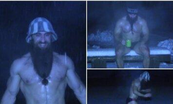 Tikrieji lietuvių vikingai: raumeningi sportininkai ištvermę demonstravo šalčiausią žiemos dieną