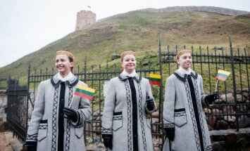 Flag raising ceremony on the Geidiminas' castle 2017
