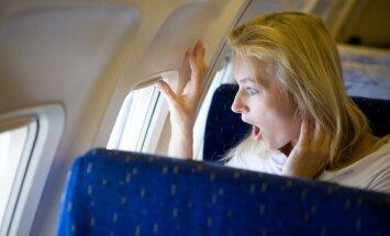 lėktuvas, skrydis, baimė, nustebimas