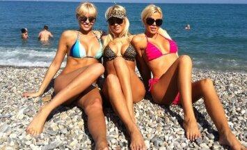 Skaistė Steikūnaitė, Oksana Pikul ir Marina Bui Nicoje