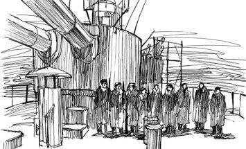 Iliustracija iš knygos Pūga prie Mėmelio
