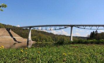 White Rose bridge in Alytus