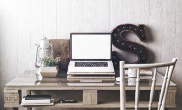 Darbo zona namuose: 2 gudrybės, kaip įrengti išradingai ir taupiai