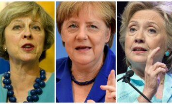 Th. May, A. Merkel, H. Clinton